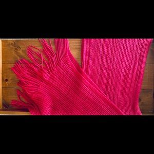 Accessories - Hot Pink Knit Scarf